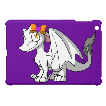 Halloween Themed White SD Furry Dragon w/ Halloween Heart Hairbow iPad Mini Cases