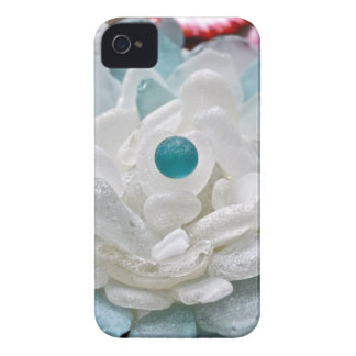White Sea Glass Flower iPhone 4 Cover