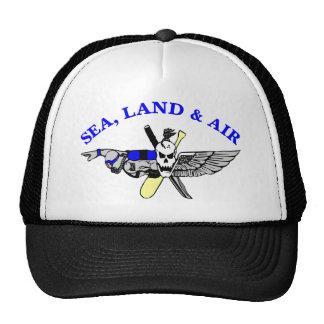White Sea Land Air Trucker Hat