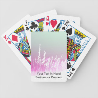 white sea oats pink yellow sky Florida beach image Bicycle Playing Cards