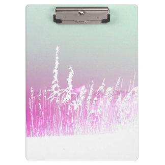 white sea oats pink yellow sky Florida beach image Clipboard