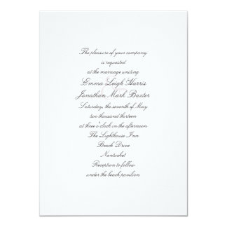 White Sea Stars Beach Theme Wedding Invitation