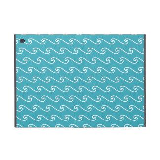 White sea waves pattern case for iPad mini
