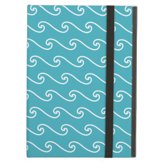 White sea waves pattern cover for iPad air