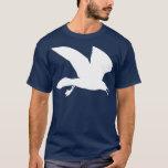 White Seagull In Flight T-Shirt