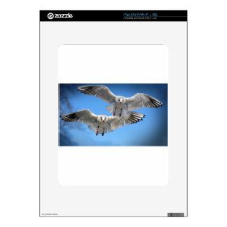 White Seagulls In Flight iPad Skins