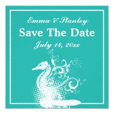 White seahorse light sea green summer wedding 5.25