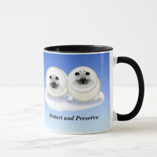 White Seal Pups Mug