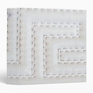 White Seams Faux Leather Binder
