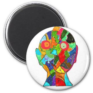 white-seans 2 inch round magnet