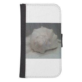 White Seashell Galaxy S4 Wallet Case