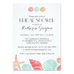White Seashells Invitation For Beach Wedding at Zazzle