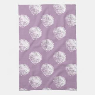 White Seashells Towel