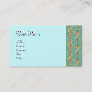Plant biology business cards zazzle white seeds light blue yellow green pink purple business card colourmoves