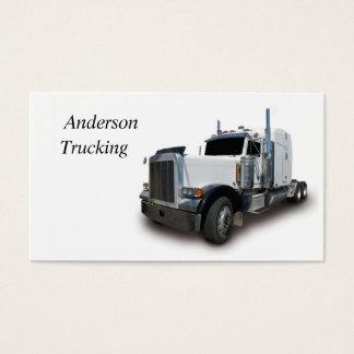 White Semi Business Card. Business Card