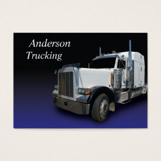 White Semi Truck Business Card