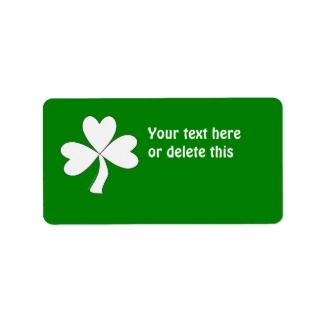 White Shamrock St. Patrick's Day Irish Good Luck