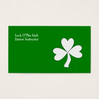 White Shamrock St. Patrick's Day Irish Good Luck Business Card