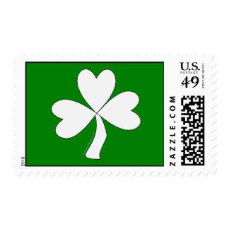 White Shamrock St. Patrick's Day Irish Good Luck Postage