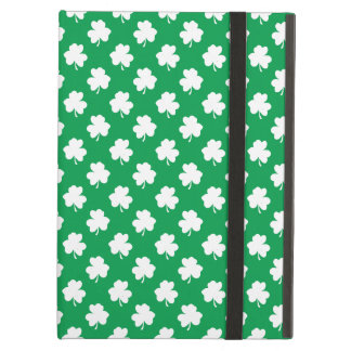 White Shamrocks on Green St.Patrick's Day Clover Cover For iPad Air