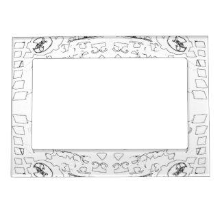White Shapes Magnetic Frame