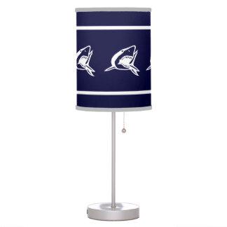 White Shark on blue background Desk Lamp