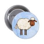 white sheep 2 inch round button