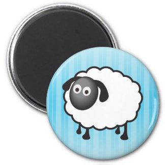 White Sheep 2 Inch Round Magnet