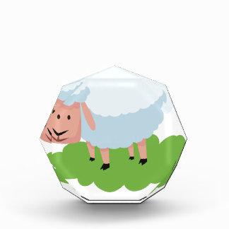 white sheep and shaun the sheep acrylic award