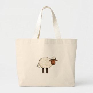 white sheep canvas bags