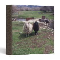 White Sheep Black Sheep 3 Ring Binder