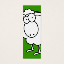 White Sheep Bookmark Mini Business Card