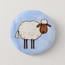 white sheep button