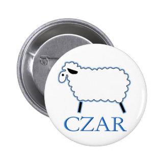 White Sheep Czar 2 Inch Round Button