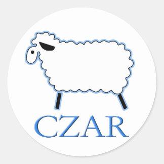 White Sheep Czar Classic Round Sticker
