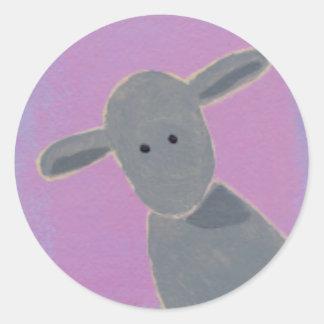 White Sheep, Gray Sheep, Black Sheep fun art Classic Round Sticker