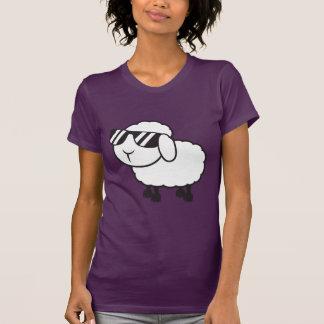 White Sheep in Sunglasses Cartoon Shirt