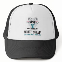White Sheep Just Goin' with the Flow. Trucker Hat