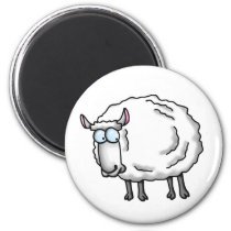 White sheep magnet