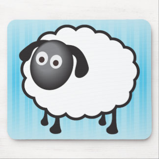 White Sheep Mouse Pad