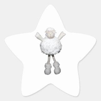 White Sheep Star Sticker