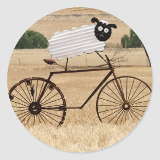 White Sheep Thrills Classic Round Sticker