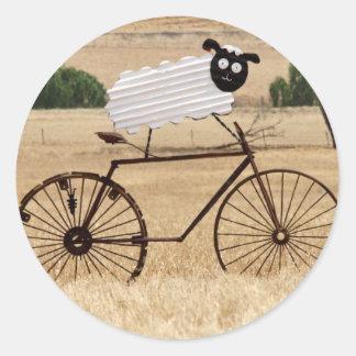 White Sheep Thrills Classic Round Sticker