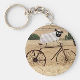 White Sheep Thrills Keychain