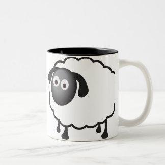 White Sheep Two-Tone Coffee Mug