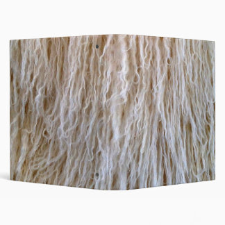 White Sheepskin Fur Design Binder