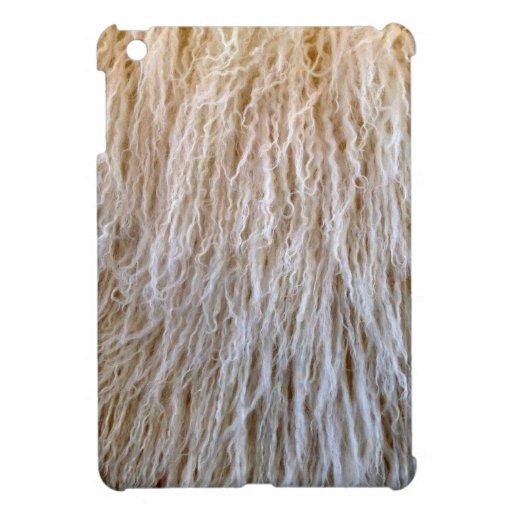 White Sheepskin Fur Design Case For The iPad Mini