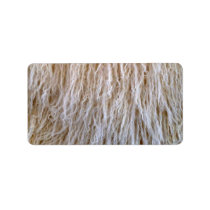 White Sheepskin Fur Design Label