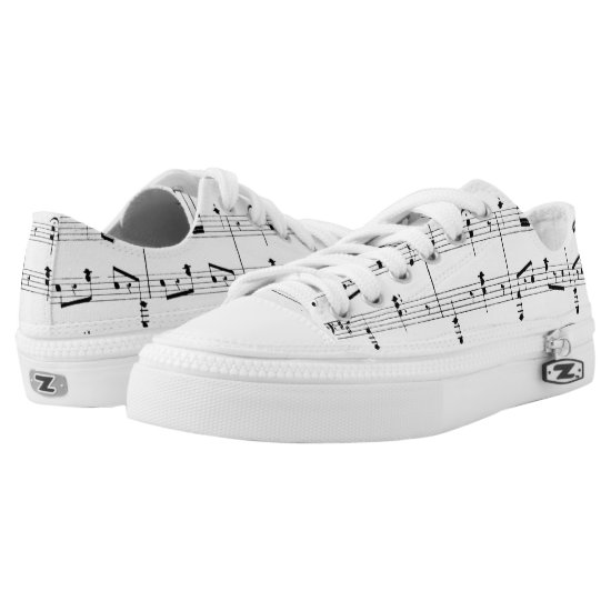 White Sheet Music Low-Top Sneakers
