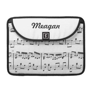 White Sheet Music MacBook Sleeve MacBook Pro Sleeve